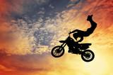 Fototapety Motocross silhouette