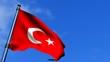 Turkey Flag Waving On Blue Sky HD