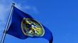 Nebraska State Flag Waving On Blue Sky HD