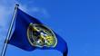 Nebraska State Flag Waving On Blue Sky HD