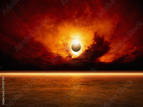 Apocalyptic background - 53207405