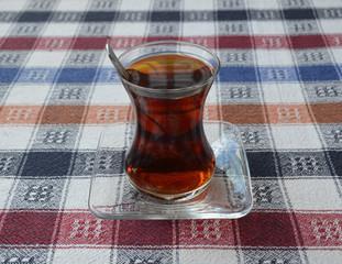 turkish tea in traditional glass