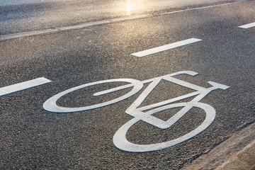 Radweg, Fahrrad, Symbol