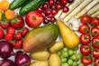 Früchte und Gemüse Mischung