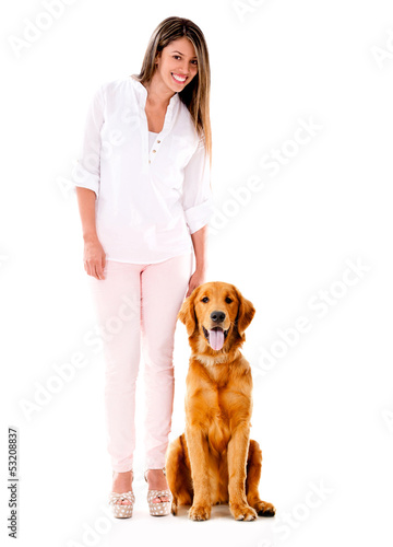 Woman with a cute dog