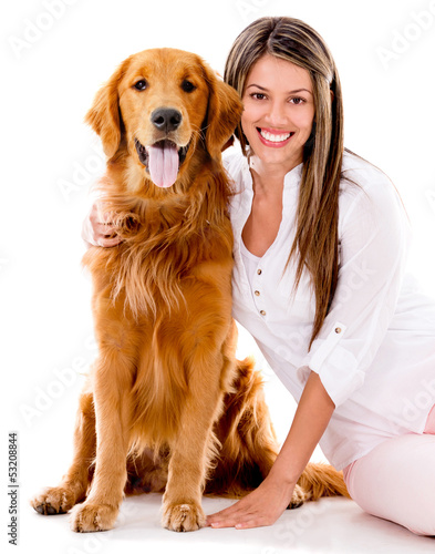 Woman with a beautiful dog