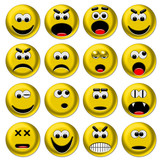 Smileys gialli 3d set 1