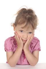 Kleines Mädchen denkt nach