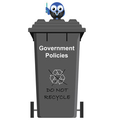 Comical Government Policies garbage bin