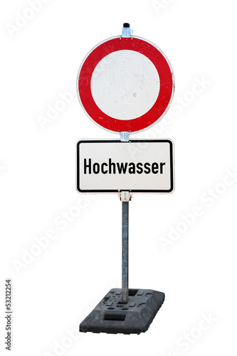 Warnschild Hochwasser - 53212254