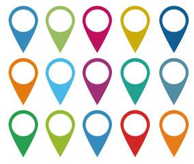 Set de iconos para web o marcadores en mapas