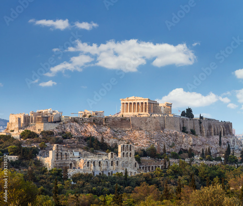 Foto op Canvas Athene Parthenon, Akropolis - Athens, Greece