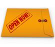 Open Now Yellow Envelope Urgent Critical Information