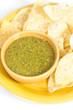 Tomatillo salsa verde, mexican cuisine