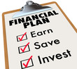 Financial Plan Clipboard Money Saving Strategy Steps