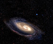 Spiral galaxy in space.