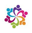Teamwork group of business logo vector