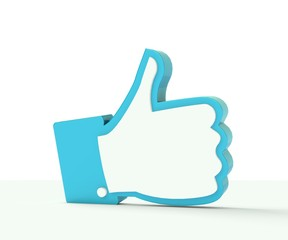 3D thumb up social media illustration
