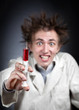 Crazy doctor with syringe