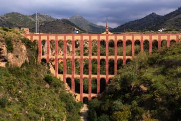 aqueduct named El Puente del Aguila in Nerja,Andalusia, Spain