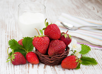 Strawberry  and yogurt