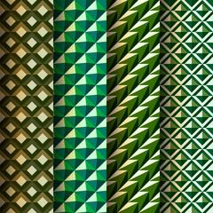 Set seamless geometrical patterns, vector Eps 10 illustration.
