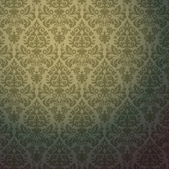 Damask vintage floral pattern, vector Eps 10 illustration.