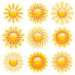 Sun Icons Orange