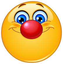Emotikon z nosa klauna