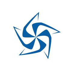 Vector logo pinwheel