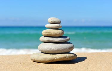 Pyramid of stones, zen