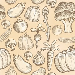 Seamless background vegetable 2