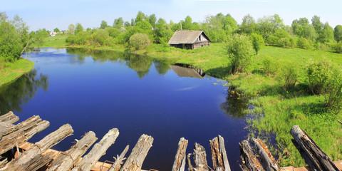 Деревенский пейзаж, россия