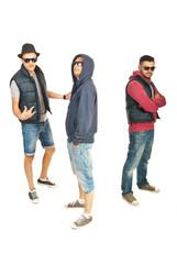 Break dance team of guys