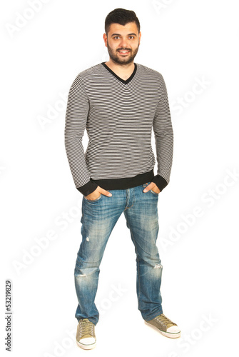 Full body shot of casual man