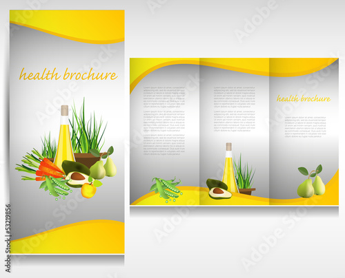Health food brochure design.