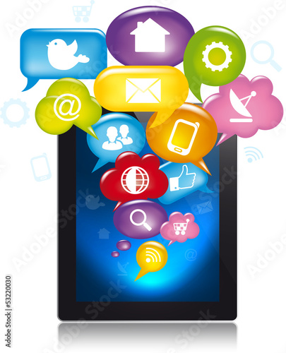 Tablet with apps