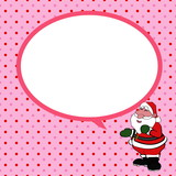 Santa claus  with speech bubble background vector