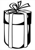 round gift box isolated on white background