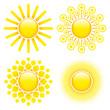 Set 4 Yellow Suns