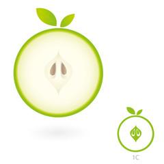 Apfel Schnittansicht
