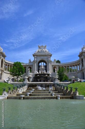 Papiers peints Fontaine MARSEILLE : La palais Longchamp et son chateau d'eau