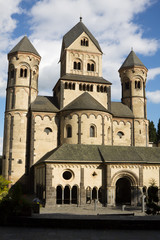The Maria Laach abbey in Germany. The abbey was founded in 1093
