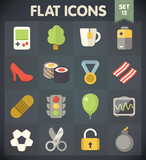 Universal Flat Icons for Web and Mobile Applications Set 11