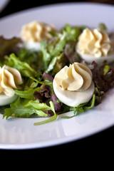 Œufs, mayonnaise, entrée, salade, oeuf dur, cantine