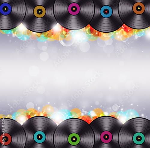 Multicolor Music Vinyl Background