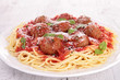 spaghetti with meatballs and parmesan
