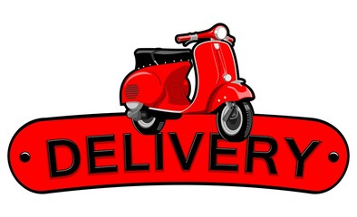 Delivery motorcycle