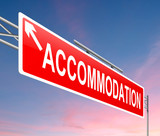 Accommodation concept poster