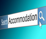 Accommodation search. poster